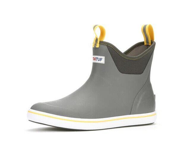XTRATUF 22735 Waterproof Men's 6-inch Gray Yellow Ankle Boat