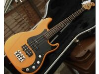 Fender Precision bass guitar, high end American Deluxe with Fender hard case, 2005