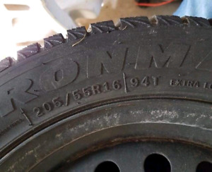 Winter Tires and Steel Rims 205/55R16
