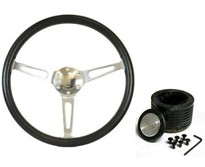 VALIANT, CHYSLER SAAS Classic Poly Steering Wheel 365mm15 Inch  & Boss Kit Combo