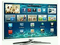 "White Samsung 40"" LED smart 3D wifi built USB MEDIA PLAYER HD FREEVIEW and freesat Screen"