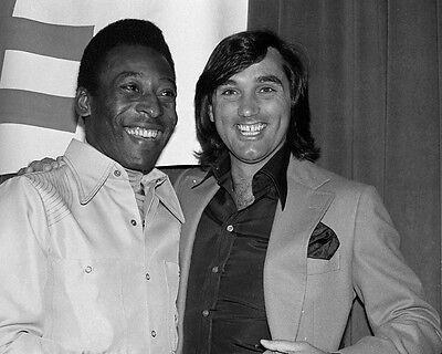 Pele and George Best Candid BW 10x8 (George Best And Pele)