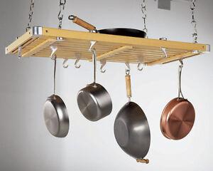 Brand New Storage Concepts Rectangular Wood Ceiling Pot Rack Kitchener / Waterloo Kitchener Area image 1