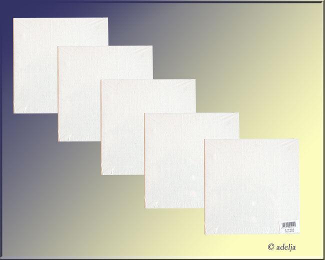 15x15 cm Malplatten Malkarton mit Leinwand bespannte Malpappen fertig grundiert