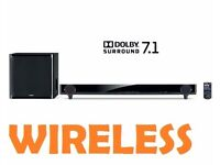 Yamaha YAS-CU201 7.1 Soundbar 160 Watts Black Air Surround Xtreme Home Audio
