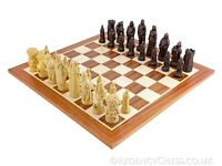Robin Hood Mahogany Chess Set and Board