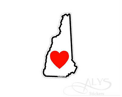 New Hampshire State Map (I Love New Hampshire State map Decals & Stickers)