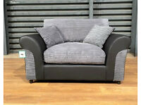 Hardly Used Cuddle Chair - Charcoal/Black.