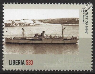 WWI RFA BACCHUS (1915) Royal Navy Auxiliary Ship (Stores Freighter) Stamp