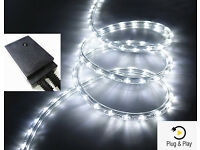240V LED Rope Light Kit Duralight Waterproof Outdoor Use Garden Fence Shed, Various Colour Options