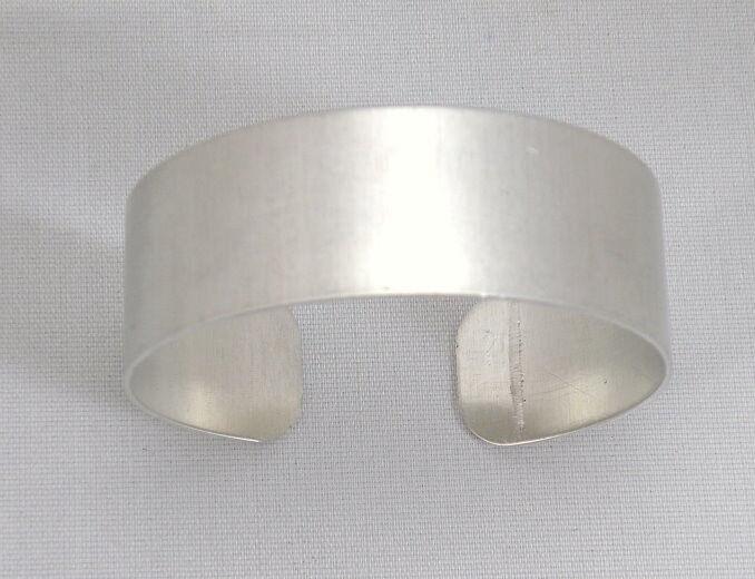 "3/4""  Inch Aluminum Cuff Bracelet Blank, Blanks /Dozen"