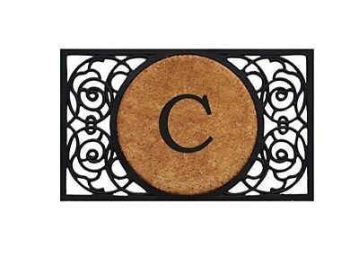 C Door Mat Monogram - Large Monogram Front Door Mat - Entry Door C Door Mat ()
