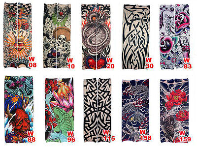 Tribal Tattoo Sleeves (10 PCS Mixed Styles Fake Temporary Tattoo Sleeve Arm Stocking Cosplay)