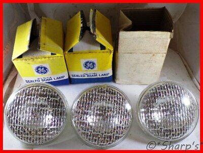 4419 Sealed Beam Bulbs Set Of 3 Fits Ih 706 806 1206 Nos Usa Made 12v