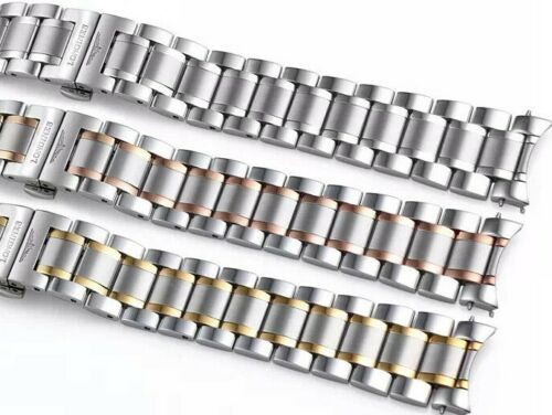SOLID STAINLESS STEEL BAND BRACELET LONGINES 19 - 20 - 21MM