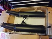 Honda Hornet 919 Exhaust pipes and heat shields.