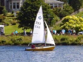 Wanderer sailing dinghy £1750. Excellent condition. Original gel coat. Little used.