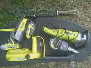 "Ryobi  4x power tools and 9"" angle grinder Brassall Ipswich City Preview"