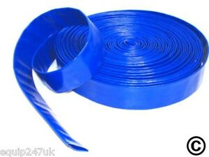 20M-x-50mm-2inch-BLUE-LAY-FLAT-HOSE-WATER-PUMP-SUBMERSIBLE-PUMP-HOSE