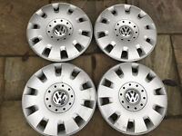 Four genuine VW wheel trims to fit 16in wheels £12