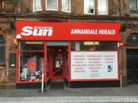 Well Established Newsagent with 1 Bedroom Flat for Sale/Swap Freehold/Leashold