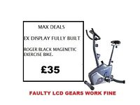 Roger Black Plus Magnetic Exercise Bike BUILT FAULTY LCD BUT GEARS WORK FINE