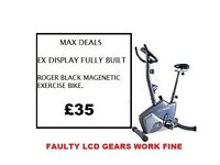 Roger Black Plus Magnetic Exercise Bike BUILT FAULTY LCD BUT GEARS. WORK FINE