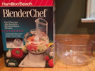 Hamilton Beach Blender Chef Food Processor 70900 Part, 3 Cup Clear Work Bowl