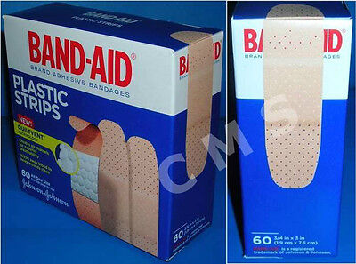 Johnsons Plastic Bandages (BAND-AID Plastic Strips Adhesive Bandages 3/4x3 60/BX Johnson&Johnson Quiltvent )