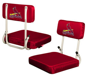 ST. LOUIS CARDINALS ~ Metal Stadium Bleacher Folding Seat Back Cushion ~ New!
