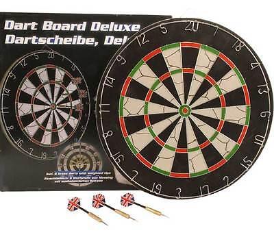 Profi Dartscheibe 4,5 kg Dart + 6 Wurfpfeile Bristle Dartboard Steeldart Sisal