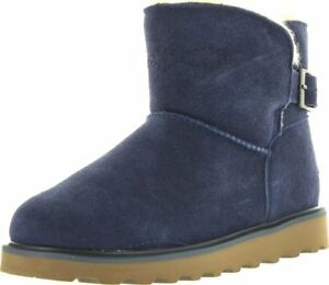 Bearpaw Women's Christine Buckle Boot INDIGO Size 6, New
