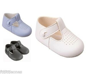 BABY-BOYS-PRAM-SHOES-T-BAR-CHRISTENING-SHOES-BAPTISM-WEDDING-BAYPODS-EARLY-DAYS