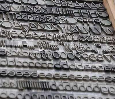 Leichte Erbar Grotesk 18mm Bleisatz Buchdruck Handsatz Bleilettern Bleischrift