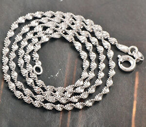 Reliable 9K White Gold Filled -Water Wave-Womens Chain 45cm,C425