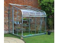 Halls 6x8 Silverline Curved Lean To Greenhouse (New and Boxed)