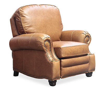 - Barcalounger Longhorn II Chaps Saddle Genuine Top Grain Leather Recliner Chair