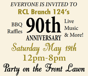NOTL Legion BR124's 90th Birthday Party - Sat. May 19