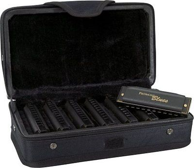 Hohner Piedmont Blues Harmonicas, Set of 7 with Case on Rummage