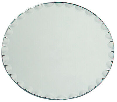 round glass mirror with scallop edge 8