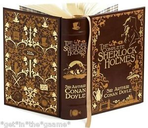 LEATHER BOUND The Complete Sherlock Holmes by Sir Arthur Conan Doyle  NEW Sealed