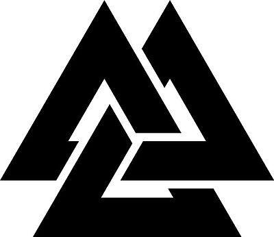 Viking Valknut rune symbol Vinyl die cut decal sticker