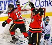 2 tickets to the flames vs Canucks home opener!!