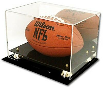 Deluxe UV NFL Football Display Case Holder with Mirror Back - Brand New