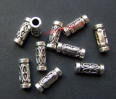 15pz  perline tubo spacer separatori  13X5mm colore tibetano