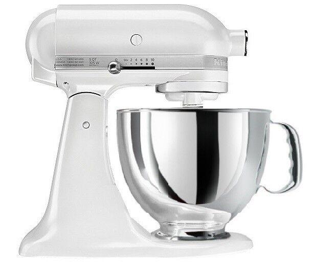 kitchenaid-stand-mixer-tilt-artisan-tilting-rrk150fp-refurb-ksm150-frosted-pearl
