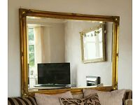 Very Large gold gilt mirror