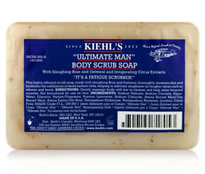 Kiehls Ultimate Man Body Scrub Soap Invigorating Fatigue Scrubber 3.2 oz Sealed