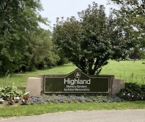 3 Cemetery Plots, Highland Memory Gardens, Willowdale – SAVE 30%