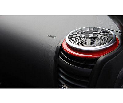 2014-2016 KIA SOUL OEM TUON Front Red Speaker Molding Cover Kit 2pcs 1Set